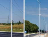 Nowe słupy i maszty oświetleniowe firmy Elektromontaż Rzeszów