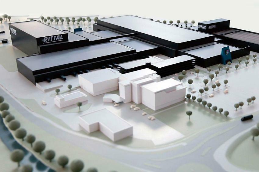 Wizualizacja nowego zakładu produkcyjnego Rittal w Haiger