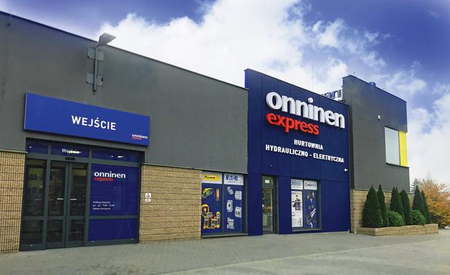 Jadna z sieci samoobsługowych hurtowni Onninen Express, Łódź ul. Brukowa 11