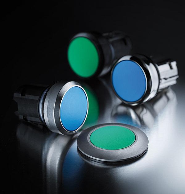 Rys. 3. Przegląd czterech linii wzorniczych przycisków i lampek sterowniczych Sirius Act