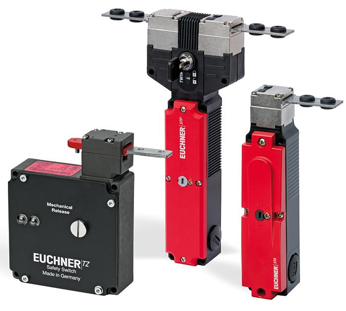 Rys. 1. Przegląd rozwiązań firmy Euchner w zakresie elektromechanicznych czujników bezpieczeństwa z ryglowaniem osłony
