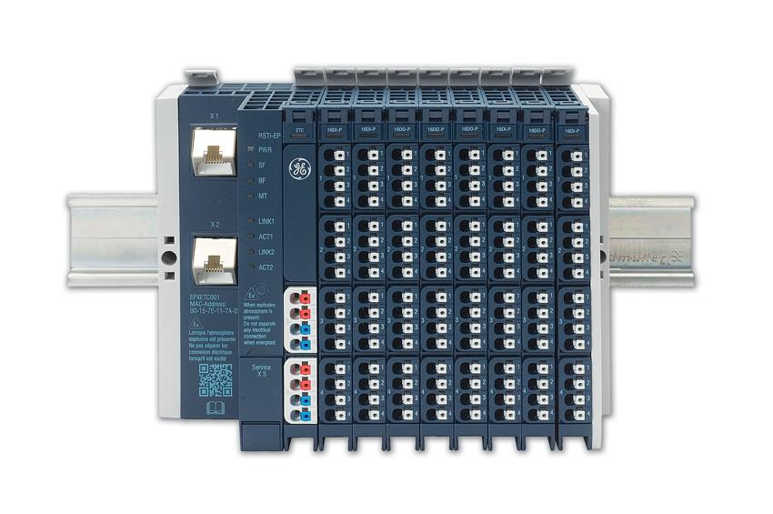 Rys. 1. Seria układów ekonomicznych wejść/wyjść RSTi-EP firmy GE pozwala na obsługę modułów bezpieczeństwa funkcjonalnego i budowanie systemów z certyfikatem SIL3