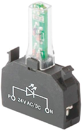 Rys. 4. Aby otrzymać przycisk podświetlany, elementem środkowym w zestawie musi być wspornik LED