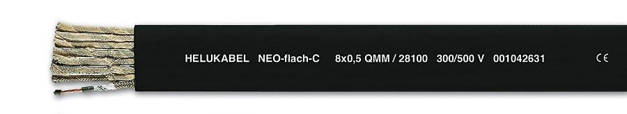 Rys. 5. Przewód ekranowany NEO-Płaski-C z neoprenową wyjątkowo odporną izolacją. Bardzo elastyczny.