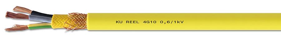 Rys. 6. Ekranowany przewód zasilający KU-REEL – ekran z wytrzymałych włókien zapobiega skręcaniu przewodu