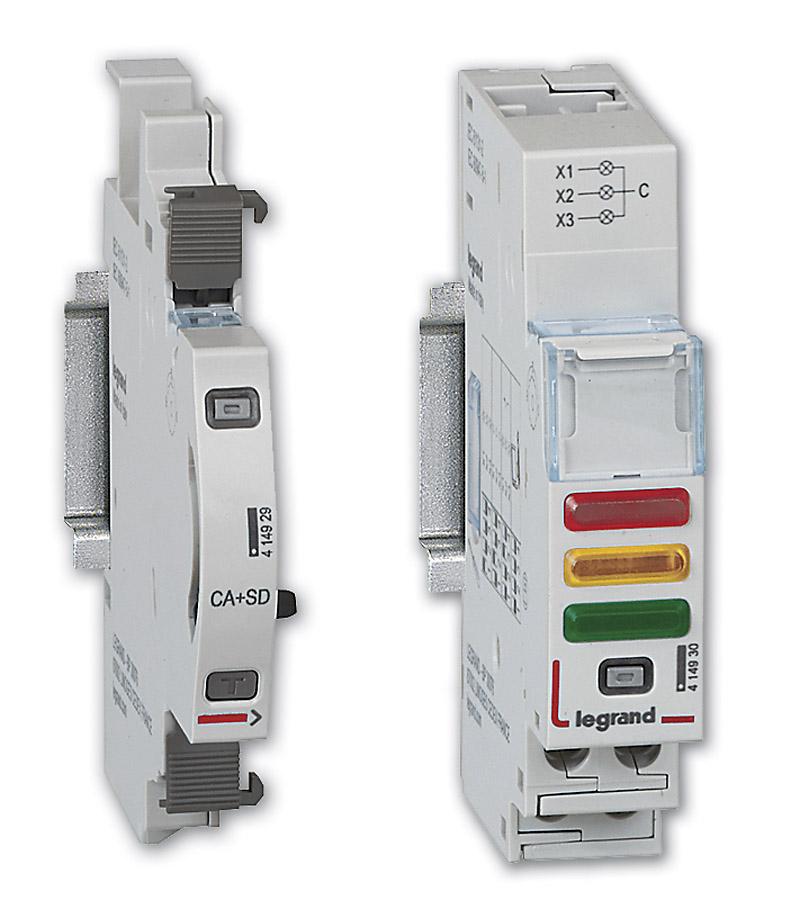 Moduły sygnalizacji stanu – styk pomocniczy / sygnalizacyjny dla aparatów modułowych oraz uniwersalny moduł sygnalizacji stanu