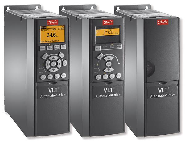 Przetwornice Danfoss VLT AutomationDrive pozwalają sterować wszystkimi typami silników, w tym silnikami reluktancyjnymi