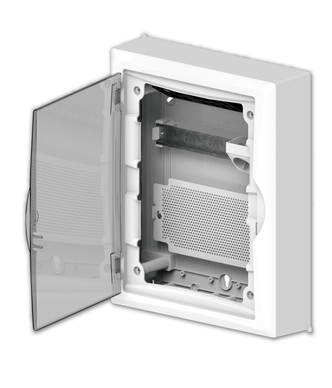 Rys. 4. Rozdzielnica Economic Box w wersji multimedialnej z drzwiami transparentnymi