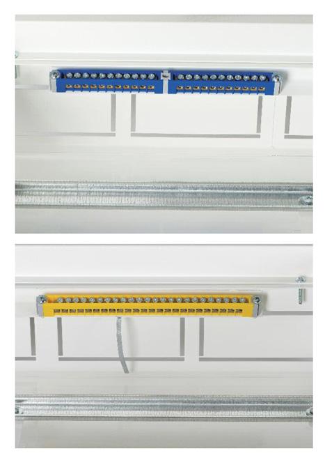 Rys. 6. Wszystkie rodziny obudów KDB-M są standardowo wyposażone w listwy PE/N