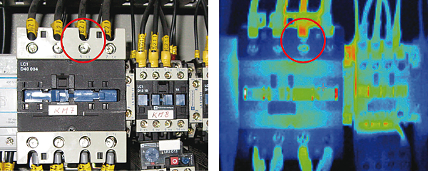 Rys. 3. Gorące miejsce (Hot point) powstałe prawdopodobnie w wyniku nieprawidłowego zamocowania terminala
