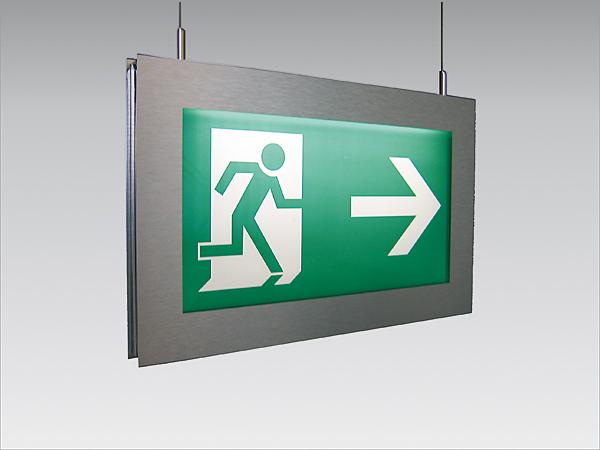 Rys. 3. Znak ewakuacyjny podświetlony od góry