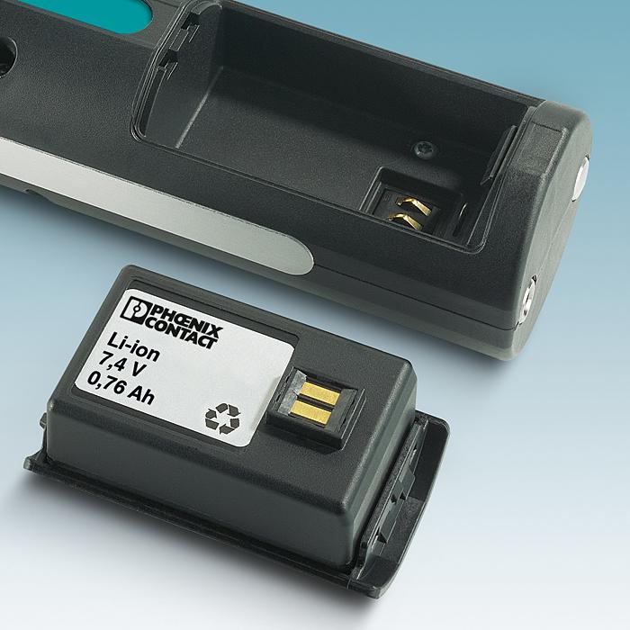 Rys. 2. Wymienny, wydajny akumulator zapewnia zasilanie nawet przez kilka dni, w zależności od ilości zaciśnięć.