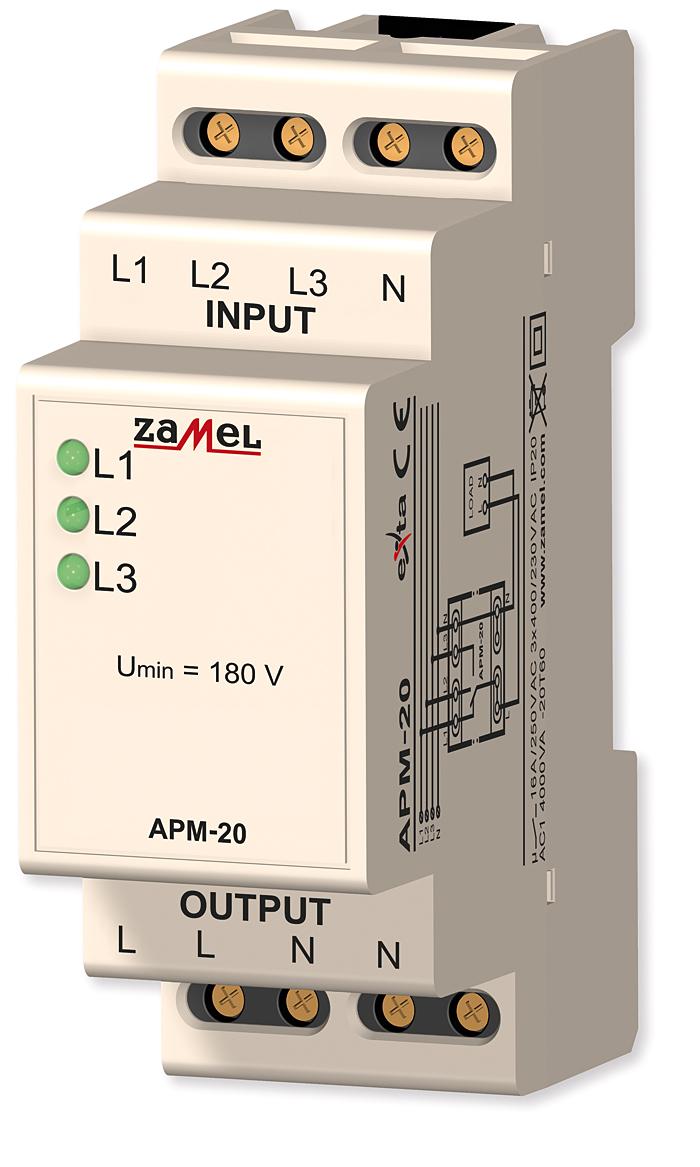 Rys. 6. Automatyczny przełącznik faz APM-20