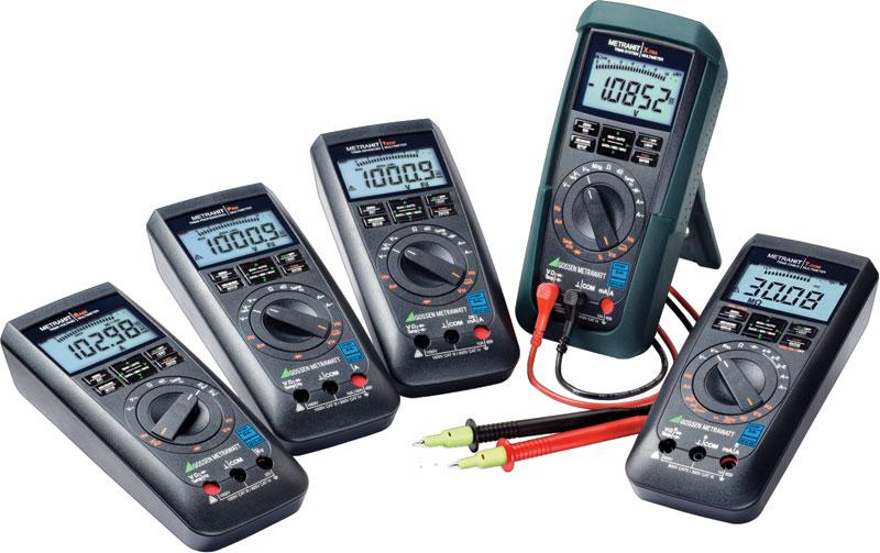 Rys. 2. Modele Base, Pro, Tech, X-tra i Tcom to wszechstronna i uniwersalna oferta multimetrów adresowana m.in. dla energetyki zawodowej