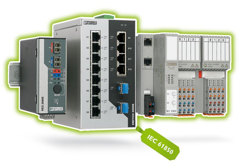 Rys. 5. System Axioline F I/O, opracowany dla komunikacji zgodnej z normą IEC 61850, jest wyposażony w odpowiednie komponenty infrastrukturalne