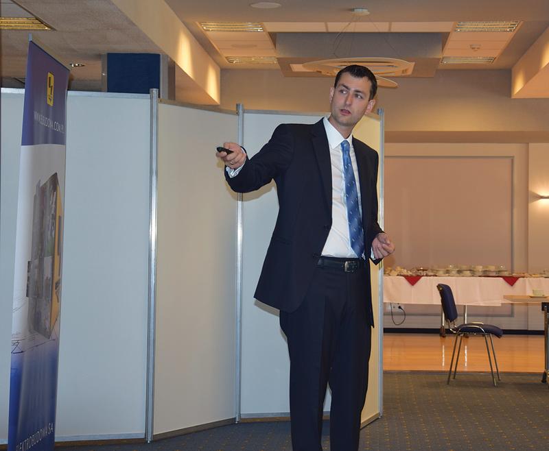 Prelekcję podczas konferencji PSE prowadzi Grzegorz Gondek, Cisco Polska