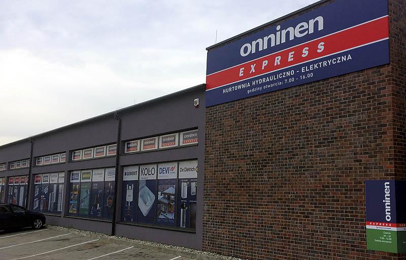 Onninen posiada rozległą sieć samoobsługowych oddziałów Onninen Express
