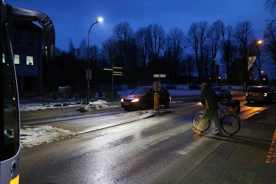 Bezpieczne przejście w Pucku zrealizowane przez Energa Oświetlenie na ul.Wejherowskiej 3