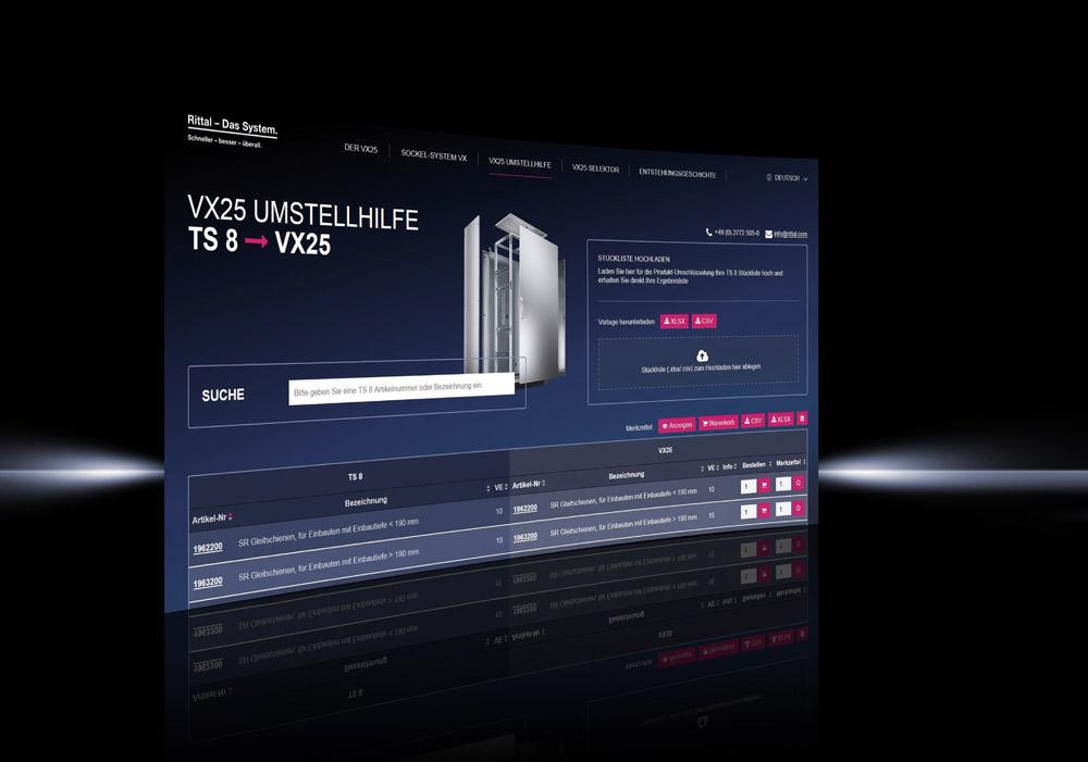 Przewodnik konwersji na VX25 pozwala na błyskawiczną zamianę dotychczasowego systemu szaf sterowniczych TS 8 na listy części VX25
