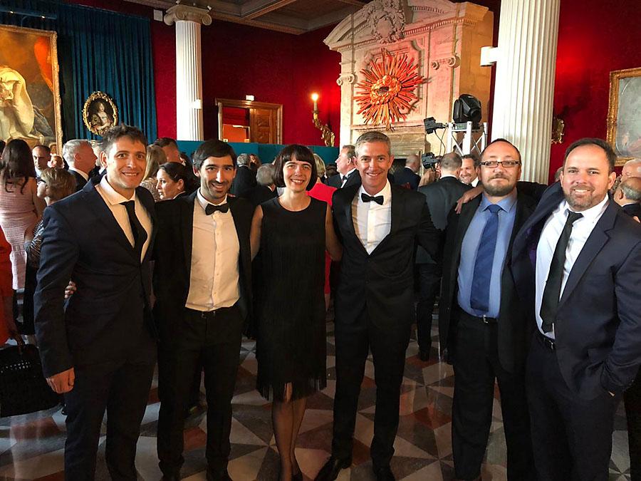Marta Kulza z FEGIME Polska oraz członkowie FEGIME LatAm w Sali Versailles hotelu Negresco