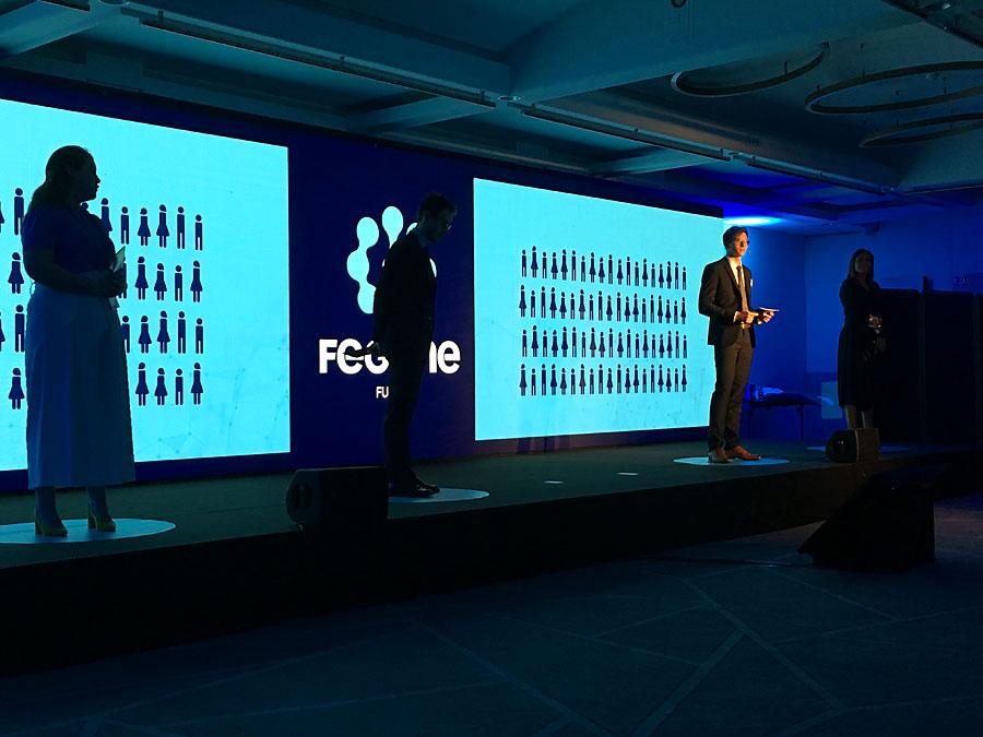 Paweł Srokowski podczas wystąpienia FEGIME Future
