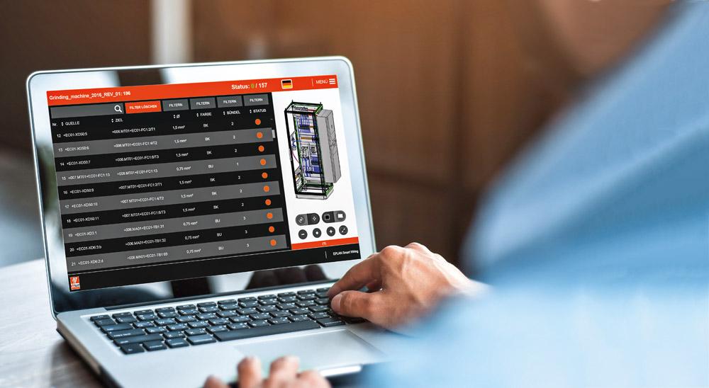 Najnowsze zmiany w schemacie połączeń są automatycznie aktualizowane przez EPLAN Pro Panel do dalszej obróbki EPLAN Smart Wiring. W ten sposób schemat pozostaje zawsze aktualny bez dodatkowych kosztów.