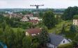 Tauron używa dronów do budowy linii WN