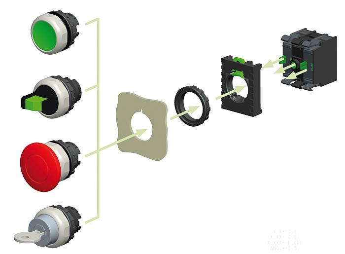 Rys. 1. Zasada montażu elementów serii Ex9P1