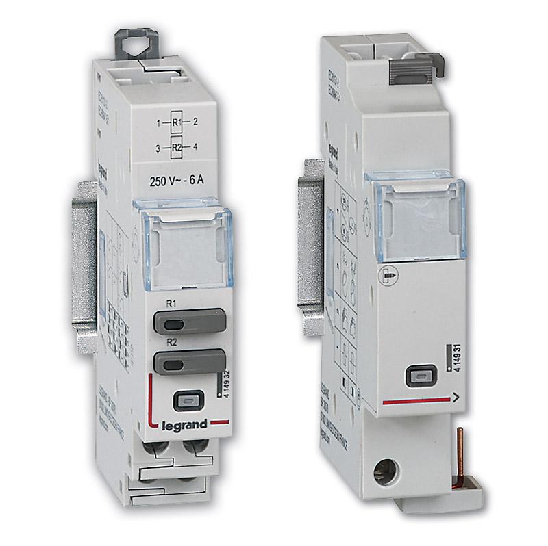 Moduły sterowania – uniwersalny moduł sterowania oraz moduł sterowania i sygnalizacji dla styczników modułowych SM 400 i przekaźników bistabilnych PB 400