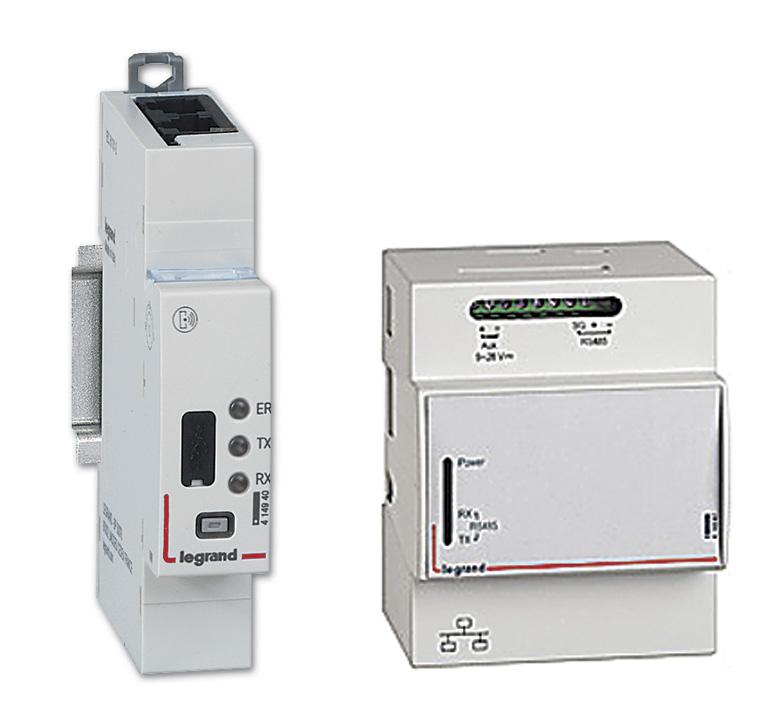 Elementy zdalnego nadzoru systemu EMS CX3 – moduł interfejsu EMS/RS485 Modbus oraz serwer sieciowy do montażu na wspornik TH35