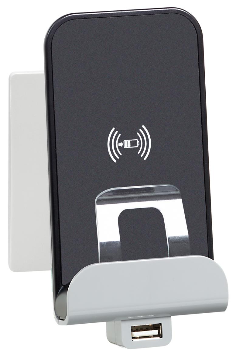 Ładowarka indukcyjna z dodatkowym gniazdem USB