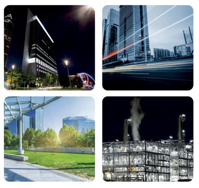 Główne obszary zastosowania lamp Street MA to oświetlenie ulic, parków, obszarów przemysłowych i parkingów.