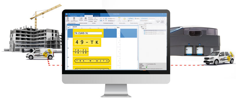 Zaprojektowane oznaczniki można wydrukować samodzielnie lub wysłać gotowy projekt do realizacji w firmie Partex