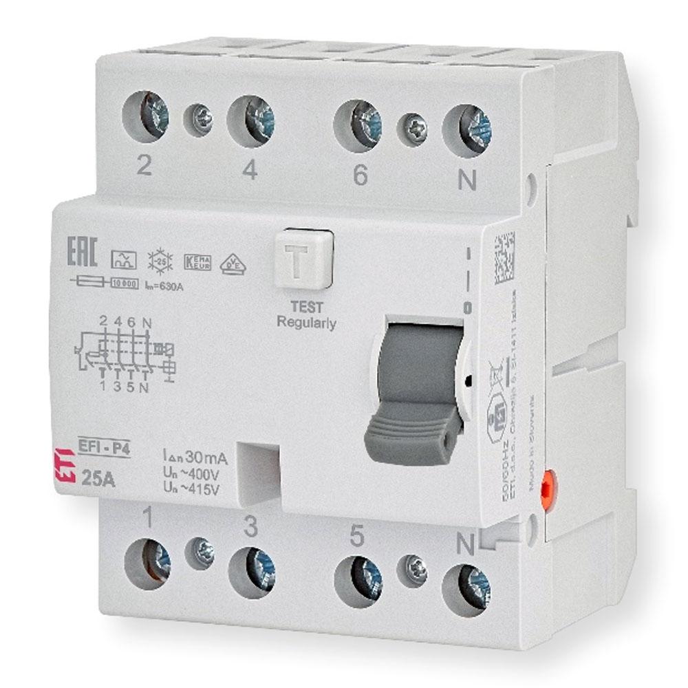 Rys. 1. Nowa konstrukcja wyłącznika różnicowoprądowego EFI-P4 opracowana i produkowana na w pełni zautomatyzowanej linii produkcyjnej przez koncern ETI